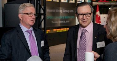 Imperial Mining - CEO Peter Cashin (left) with board chair Don Bubar (right) - The Market Herald Canada