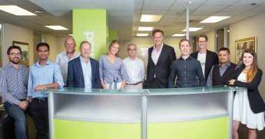 Lendified - CEO, Eoghan Bergin (4th from right). - The Market Herald Canada